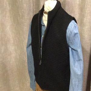 Woolrich - Wool Zipper Vest Quilted Diamond Design
